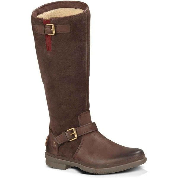 UGG Australia Women's Thomsen Stout Riding Boots ($225) ❤ liked on Polyvore  featuring shoes