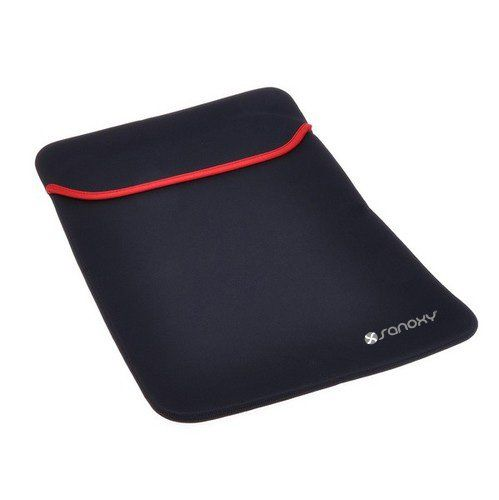 """SANOXY® Laptop Sleeve Case 11"""" 12 inch Computer Bag Notebook Smart Cover For MacBook (11-12 INCH BLACK). Shockproof anti-static dustproof, novel appearance. Compact size, handy design. Black/Red*Accessory only; iPad mini not included. High quality Anti-Shock Neoprene Case , Made of lightweight and durable neoprene material. Color: 12"""" BLACK. Apple does not endorse use of these products. Durable Neoprene padded interior cushions and protects your device from bumps, dents, and..."""