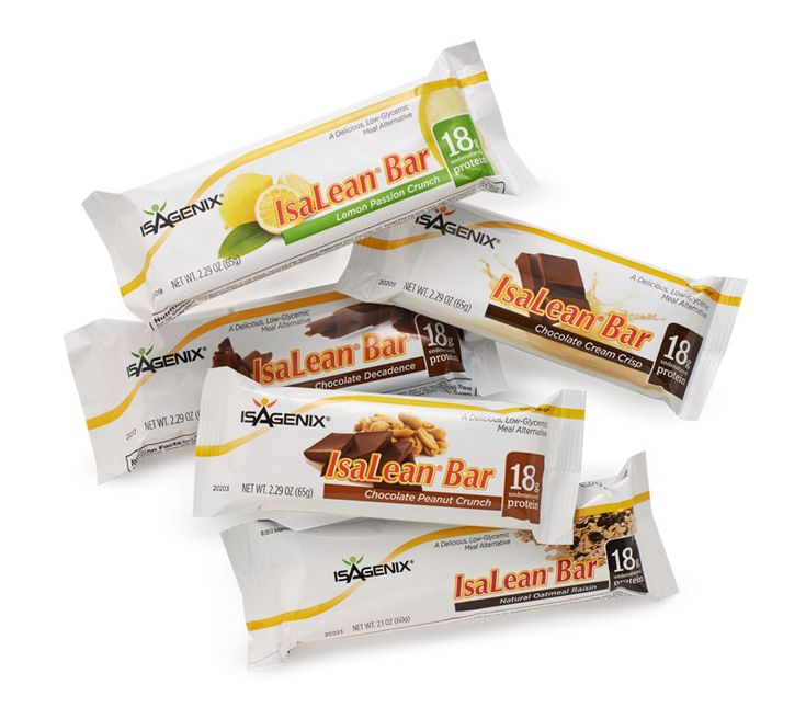 The best-tasting, most nutrient-rich meal replacement bars found at any price. Featuring the same great benefits as the IsaLean Shake, IsaLean Bars provide high quality whey protein and balanced amounts of healthy fats and energy-fueling carbs to lower caloric intake without sacrificing taste.