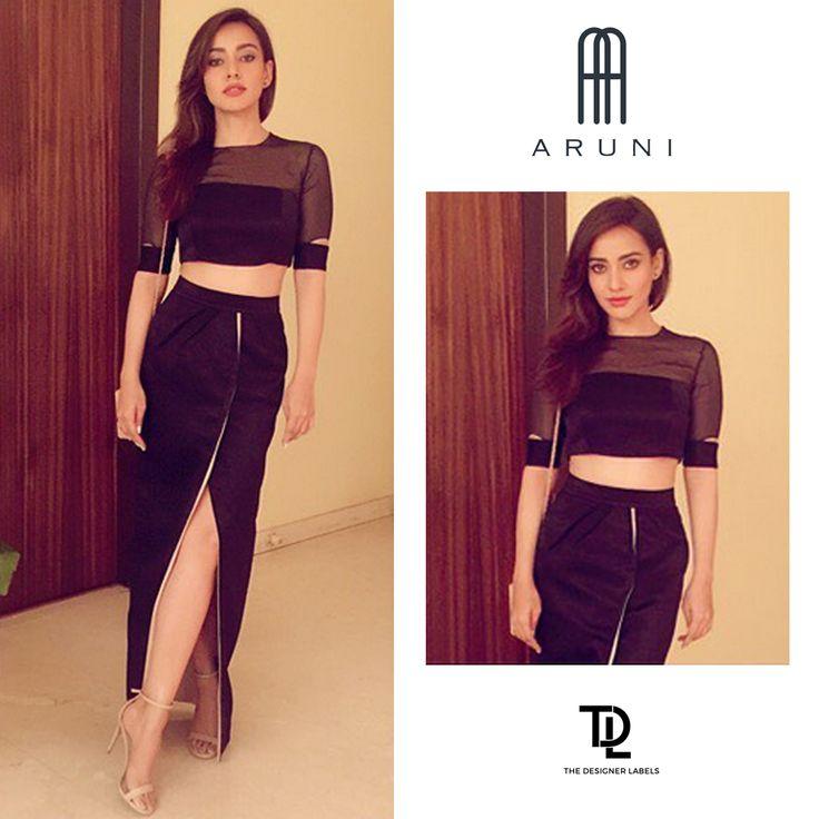 Neha Sharma in Aruni Designs #India #fashion #nehasharma #bollywood #bollywoodfashion #black