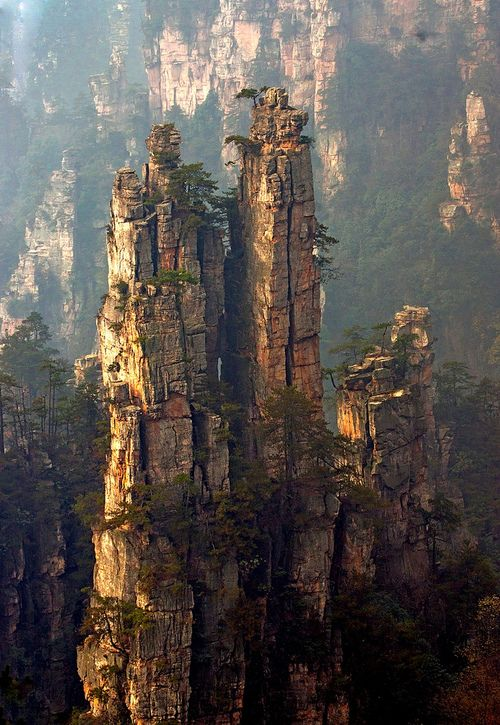 Spires, Zhang Jia Jie, China travel
