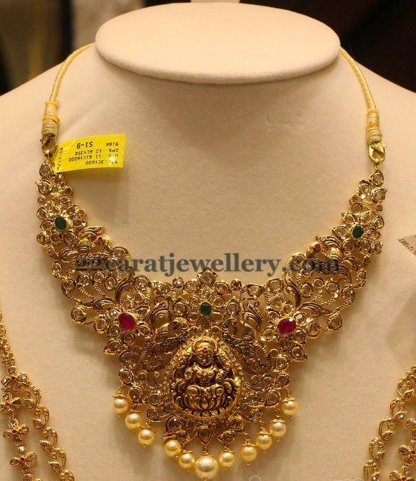 Jewellery Designs: Lakshmi Flowers Set by Manepally