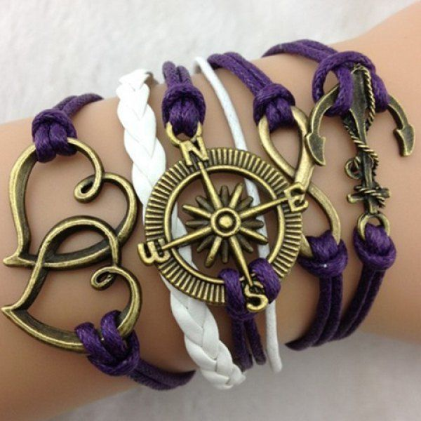 Trendy Multielement Multilayered Charm Bracelet For Women