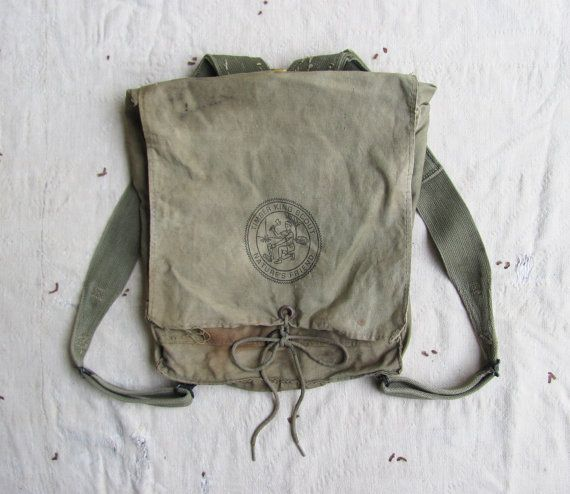 vintage c. 1930s40s Timber King Scout rucksack by MouseTrapVintage, $124.00