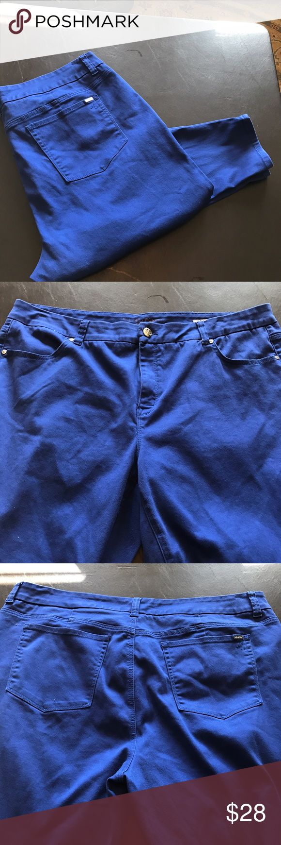 🆕 Royal blue pencil jeans. Melissa McCarthy royal blue pencil jeans. Lightly used no flaws. Skinny cropped jean.plus size 26. Melissa McCarthy Jeans Skinny