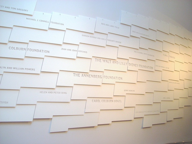The donors wall evokes fish scales