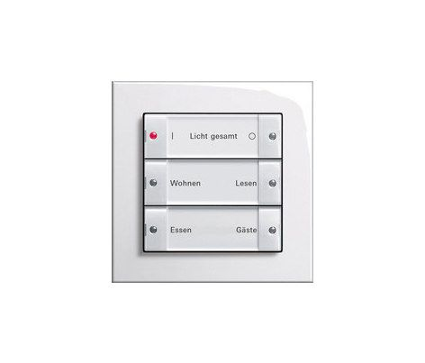 Control systems-Displays-Shuter-Blind controls-Electrical systems-E2 | Control of blinds-Gira