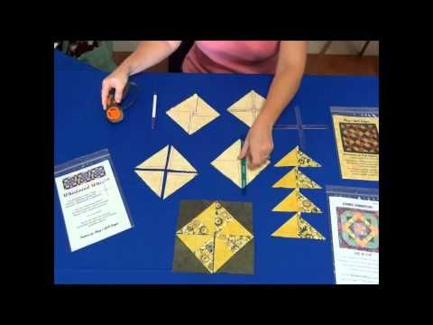 The Whirlwind Whiz makes short work out of constructing quarter square triangles.