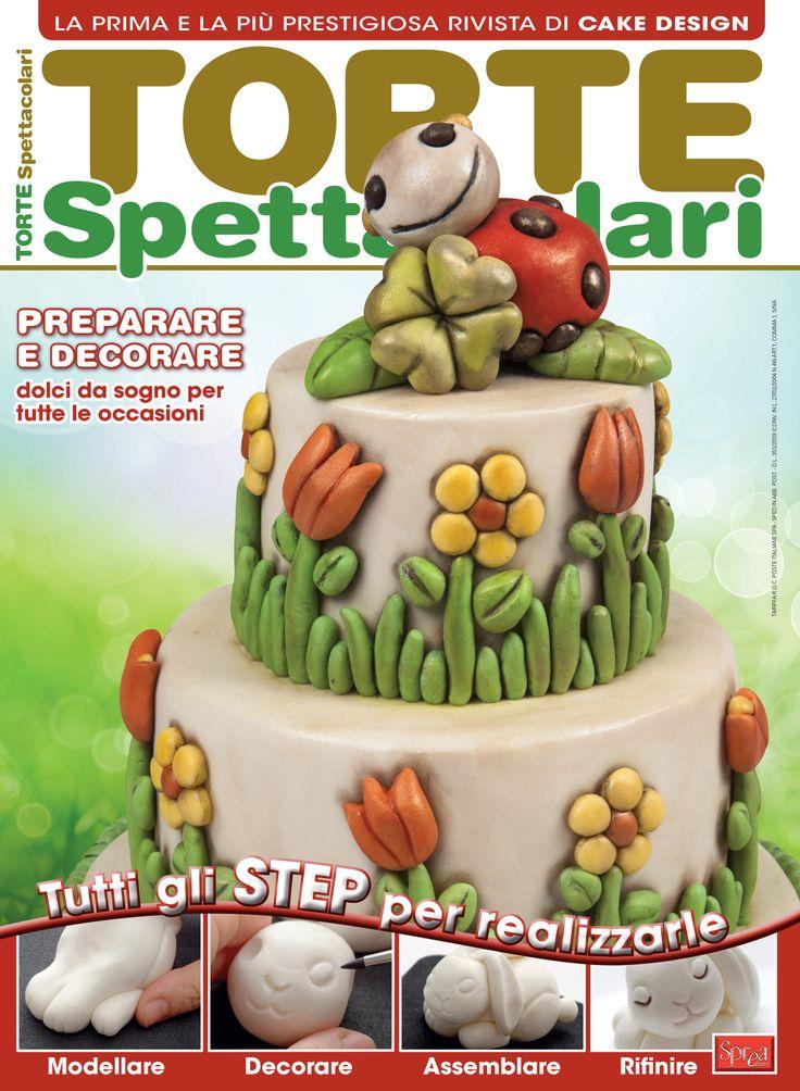 Torta in stile Thun di Barbara Perego Cake Design in copertina di Torte Spettacolari N.15
