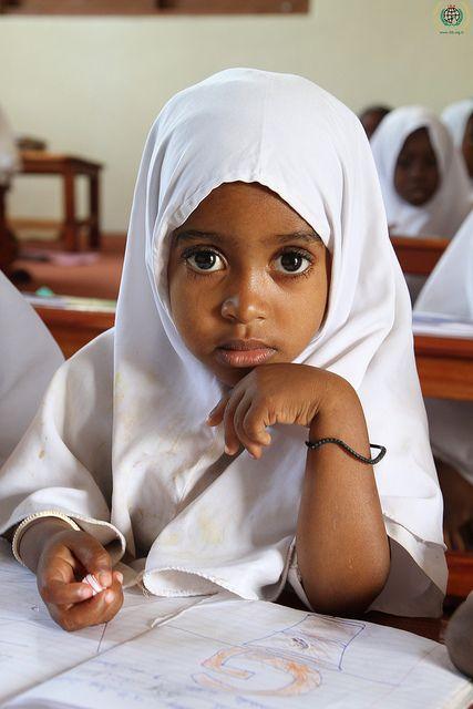 schoolgirl in Tanzania