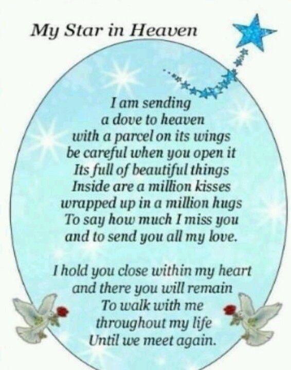 Birthday Prayer for Deceased   Via Portia Hesseltine