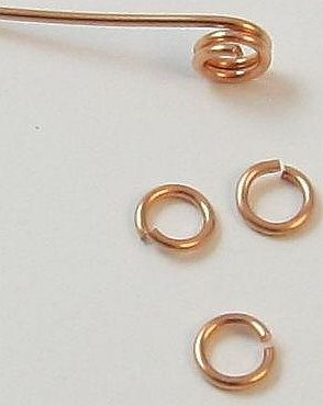 How to make your own jump rings for jewelry out of wire. Tutorial by Magpie Gemstones.