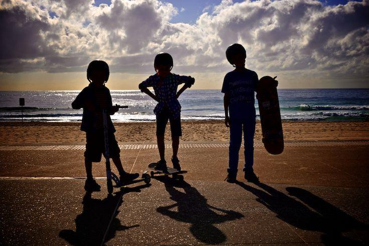 Kids + Beach + Sunrise = Photography bliss (Pic by Sarah Rowan Dahl)