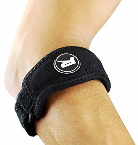 2-Pack Tennis Elbow Brace with Gel Compression Pad - Forearm Tennis & Golfer's Elbow Relief Strap Brace - Relieves Tendonitis and Forearm Pain - 2 Support Braces, Bonus Sweat Wrist Band and E-book *** Visit the image link more details.
