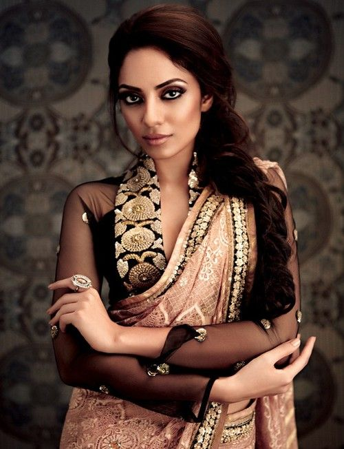 Hair & Makeup by Chandni Singh for Label Ritu Kumar . Model Miss India 2013 Sobita Dhulipala