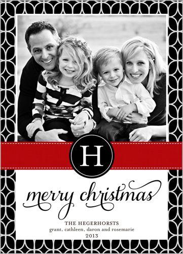 Geometric Border Christmas Card