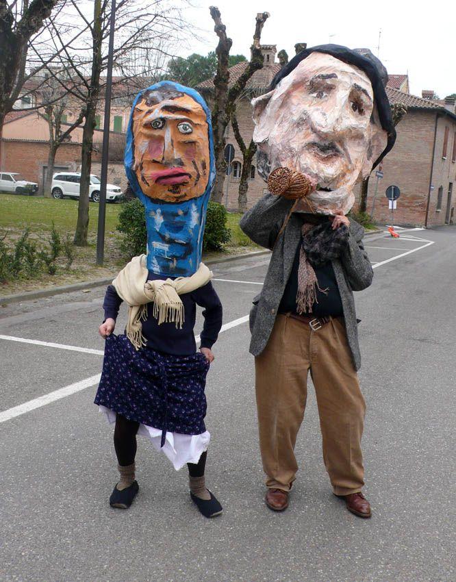 """""""La cumbrecula ad cartapesta de prufesor"""" Scuola Arti e mestieri feat scuola media Luigi Varoli Cotignola (Gori e Rusita, fratello e sorella)"""
