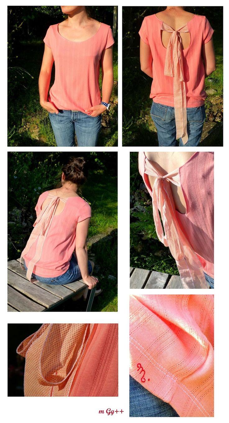 m Gg++: Un tee-shirt à grand noeud dans le dos