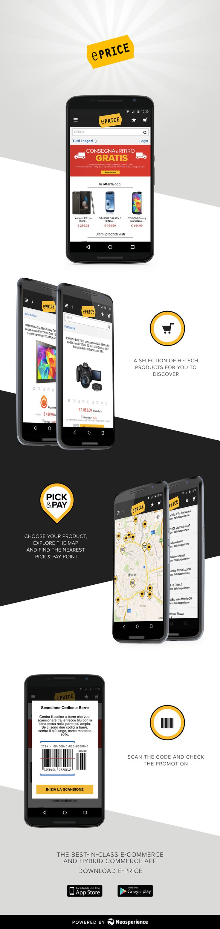 Best-in-class e-commerce and hybrid commerce mobile app dedicated to hi-tech products.