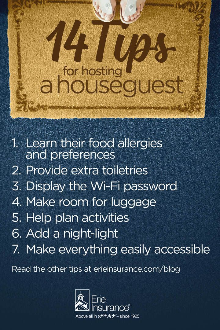14 Little Secrets for Hosting a Houseguest How to make