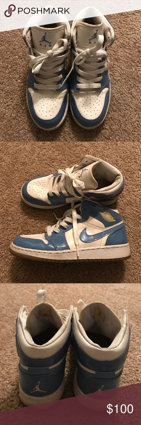 Jordan Retro 1 Patent Leather Carolina UK 36.5 Had these since they released in 2003. Last time Worn was 5 years ago. Jordan Shoes Sneakers