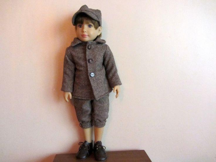 Habit de poupée : Veste, casquette et pantalon de Golf pour poupée kidz and cats garçon