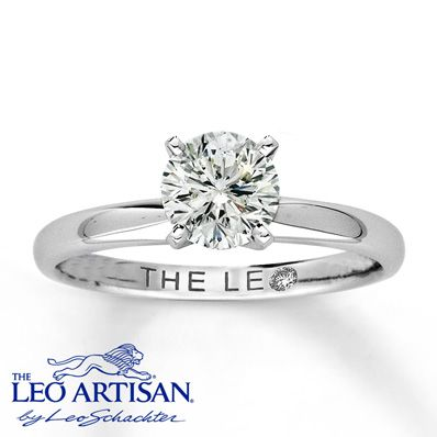 My absolute most favorite ring besides Tiffany & Co. So beautiful, timeless and classic. Jared's Leo Artisan Diamond 1 Carat Round-cut 14K White Gold