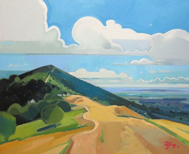 "Malvern Hills Northwards by Antony Bridge. 20x24"" Oil on canvas. more information at http://antonybridge.co.uk/"