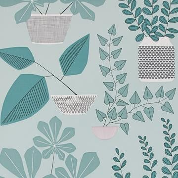 House Plants tapeter från MissPrint®. (OV671-04) hos Engelska Tapetmagasinet. Köp fraktfritt online eller besök butiken i Göteborg.