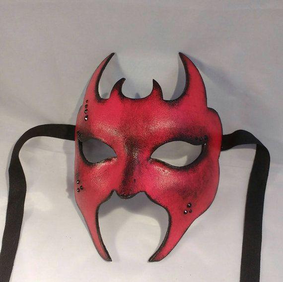 Devil #mask #red #masquerade mask #masked #ball #devil #satan #costume #eyewear #fancy #dress by MasksbyDebbsElliman