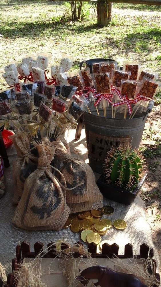 Wild West cowboys birthday party! See more party planning ideas at CatchMyParty.com!