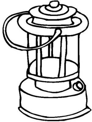 lantern coloring book page