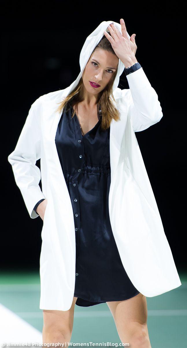 Andrea Petkovic showing her modeling skills! #Antwerp #FashionShow #Diamond Games http://www.womenstennisblog.com/2015/02/10/high-fashion-emotions-antwerp-tuesday-gallery/