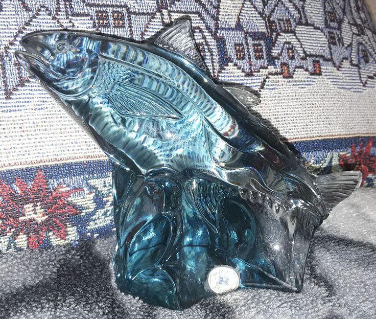 Kosta Reijmyre Paul Hoff Slominski glass figurine WWF animals fish Trachurus #Reijmyre #PaulHoff
