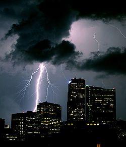 Lightning over Denver, Colorado, USA