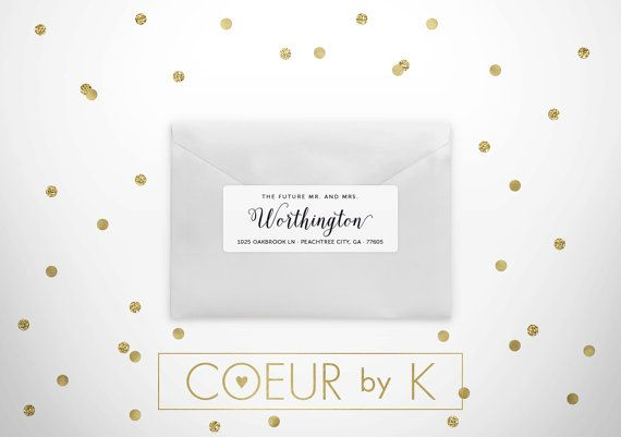 "Custom Wedding Return Address Label - ""The Classic Wedding I"" Calligraphy Return Address Stickers"