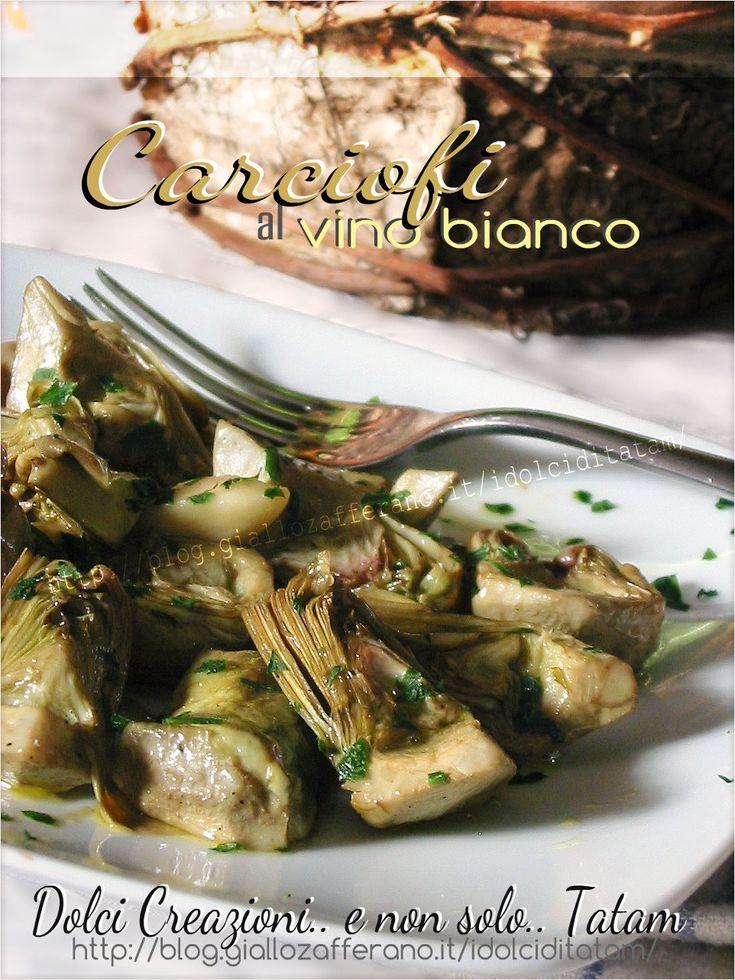 Carciofi in padella al vino bianco | ricetta vegetariana contorno
