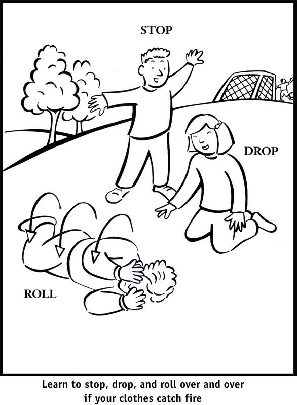 kindergarten safety coloring pages - photo#43
