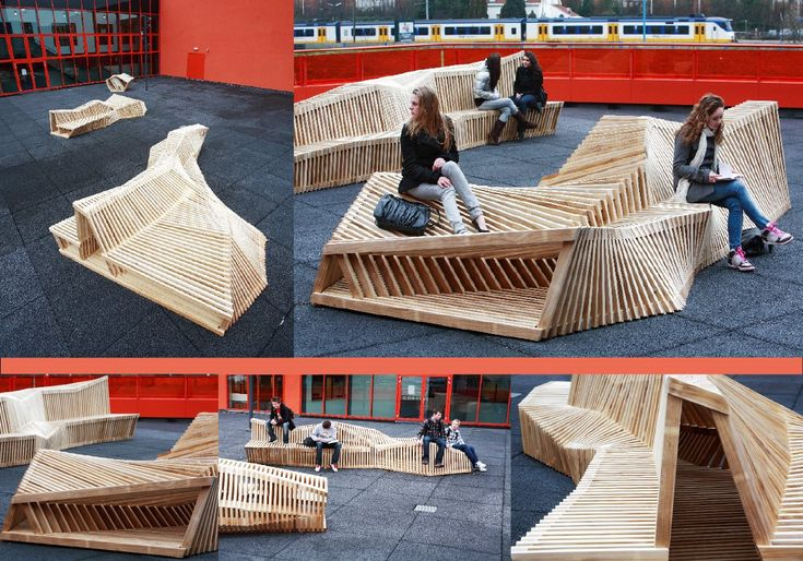 Street furniture, comfortable enough for lounging?