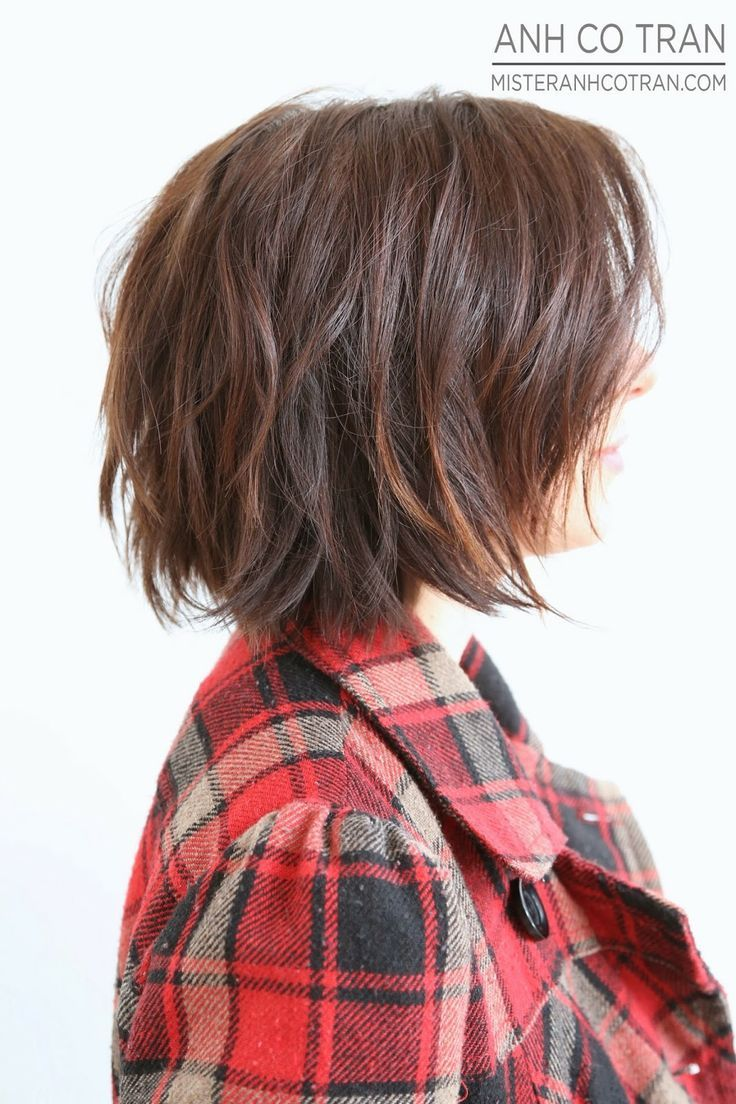 Cute short shaggy bob http://short-haircutstyles.com/category/popular-in-2016/long-hair