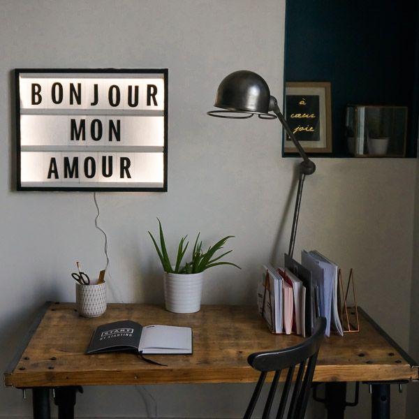 DIY Tableau lettres lumineuses