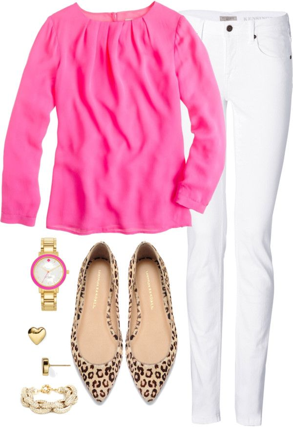 Pink, white, & leopard. Spring