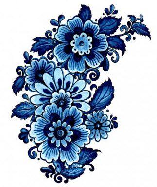 Tentation Fleur Bleue | TattooForAWeek.com - Tatouages Temporaires Plus Grande Boutique Tatouage Temporaire Du Monde - Fleurs - FD/F23-26