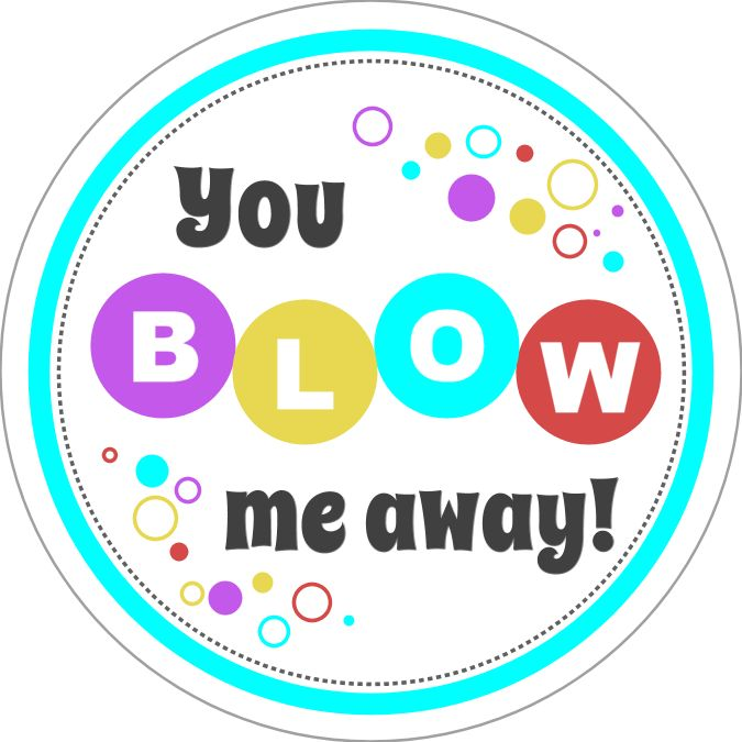 Valentines Day Circle Sticker Valentines Gift Tags Stickers or Cardstock Blow Me Away Gum Valentine Sticker