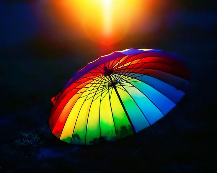 searching for summer: Colour, Lights, Rainbows Colors, Parasols, Art, Beautiful, Colors Wheels, Rainbows Umbrellas, Colors Umbrellas