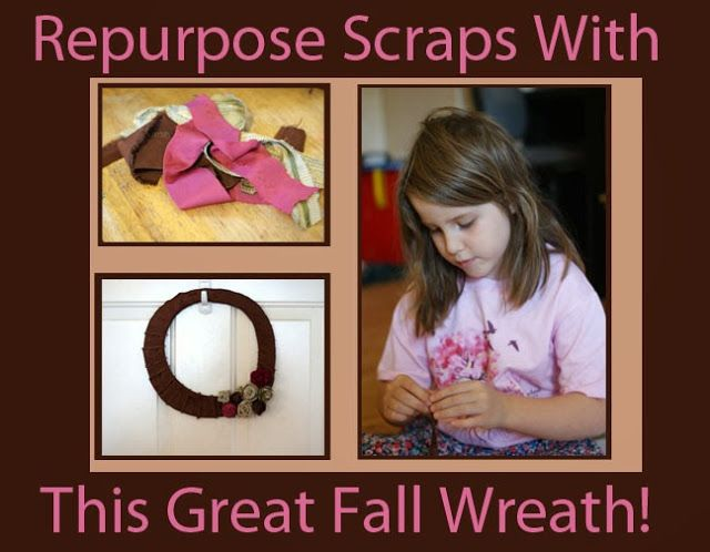More Than A Coupon Queen : Repurpose Scraps with this Great Fall Wreath!