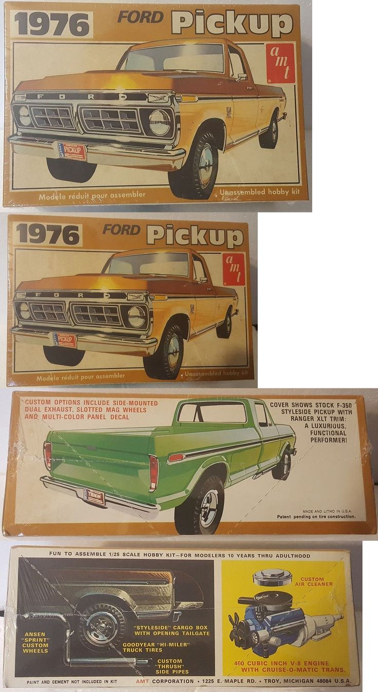 Vintage 2585: Amt # T476 1976 Ford F-350 Ranger Xlt Pickup Truck Model Sealed -> BUY IT NOW ONLY: $119 on eBay!