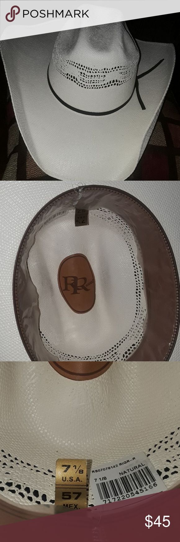Resistol Cowboy Hat 7 1/8 Natural Nice hat, clean, plastic still intact around inside brim. Size 7 1/8 Resistol Accessories Hats