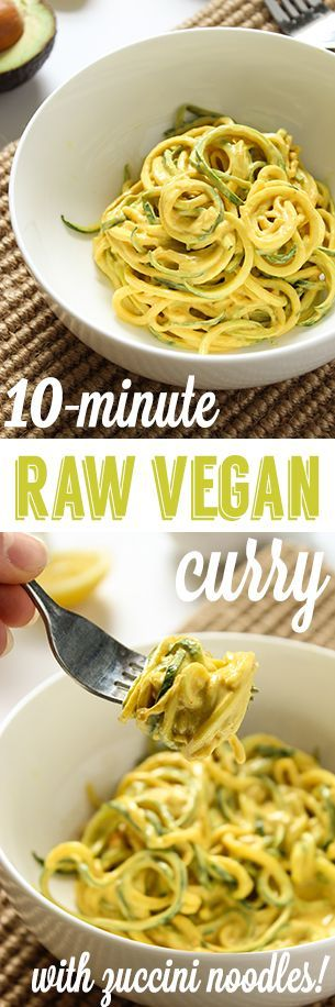 10-Minute Raw Vegan Curry & Zucchini Noodles