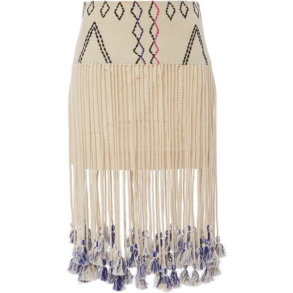 Gypset Silk Kenza Fringed Aztec Print Skirt (7.916.490 VND) ❤ liked on Polyvore featuring skirts, bottoms, pink silk skirt, boho skirt, pink layered skirt, aztec skirt and bohemian style skirts